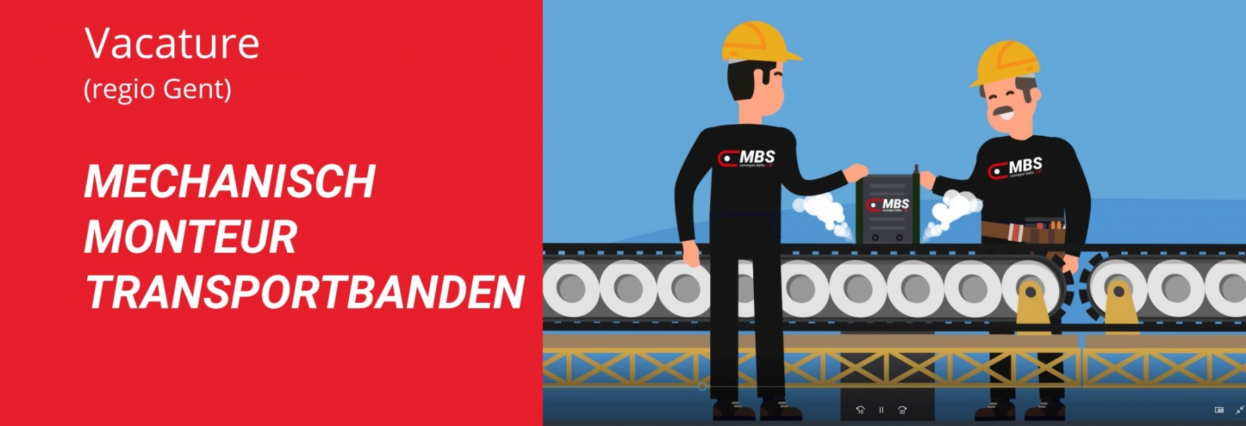 Mechanisch monteur transportbanden Gent MBS Group.